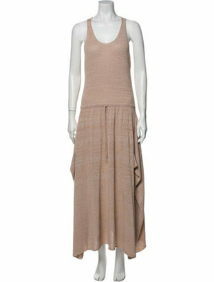 Stella McCartney Scoop Neck Long Dress Pink