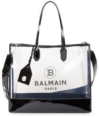 Balmain Medium Transparent Shopping Bag