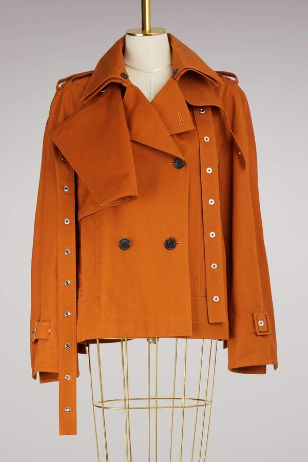 Proenza Schouler Short Cotton Trench Coat