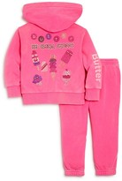 Butter Shoes Girls' Ice Cream Shoppe Embellished Hoodie & Joggers Set - Little Kid