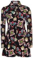 Valentino Popflower Print Button Mini Dress