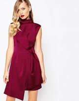 Keepsake Pretender Dress in Red Plum