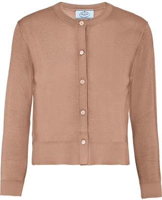 Prada Buttoned Long-Sleeve Cardigan
