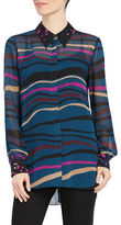 Ellen Tracy Point Collar Tunic Top