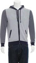 Michael Kors Striped Zip Hoodie