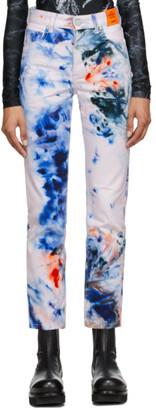 S.R. STUDIO. LA. CA. White SOTO Hand-Dyed Jeans