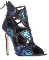 Alejandro Ingelmo Odyssey Caged Cutout Peep Toe Heels, Turquoise/black.