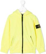 Stone Island Junior - logo patch hooded jacket - kids - Cotton - 2 yrs