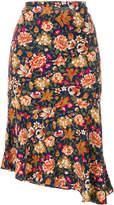 Vanessa Bruno floral pleated skirt