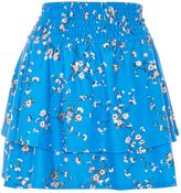 Topshop Shirred Tier Ditsy Mini Skirt
