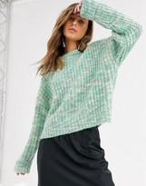 Bershka space dye knitted jumper in mint
