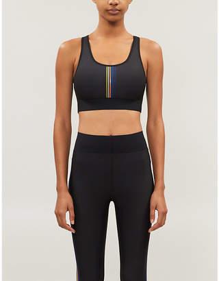 ULTRACOR Terrain stripe-print stretch-jersey sports bra
