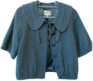 Armani Collezioni Green Wool Knitwear for Women