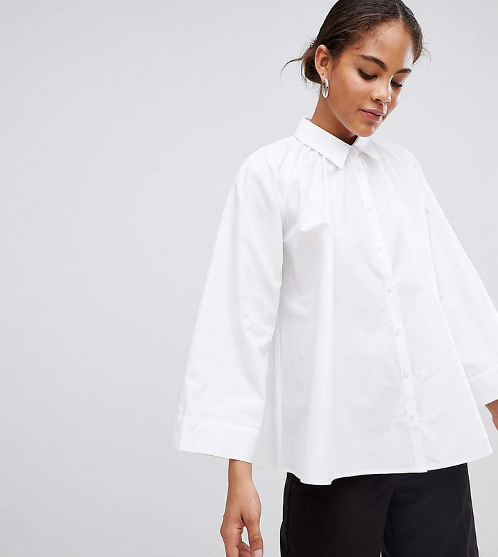 Asos Tall blouse with gather neck detail