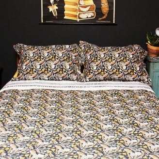 Artisans & Adventurers - Indian Kantha Queen Large Double Sized Quilt Garden Tiger Moth