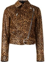Isabel Marant tiger print jacket - women - Calf Leather/Acetate/Viscose - 36