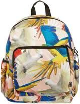 Molo Parrots Printed Canvas Backpack