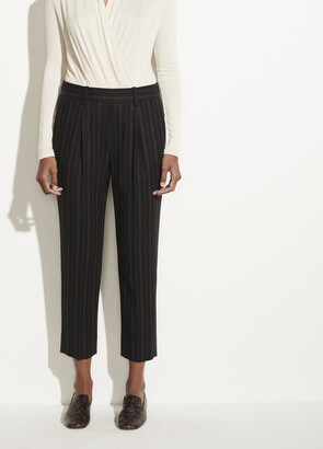 Vince Flannel Stripe Pull On Pant