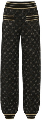 Gucci GG wool-blend trackpants