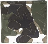 Valentino Garavani Canvas And Leather Stars Patches Camoustars Wallet