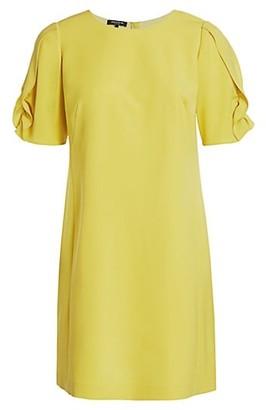 Lafayette 148 New York, Plus Size Winslow Ruffle Puff-Sleeve Shift Dress