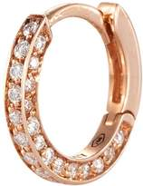 Repossi 'Micro Créole' diamond pavé 18k rose gold single hoop earring