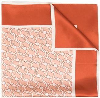 Cafune C-Lock monogram silk scarf