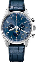 Zenith 03.2097.410/51.C700 El primero 410 stainless steel and alligator leather watch