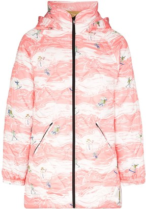 Martine Rose Ski Print Quilted Track Jacket