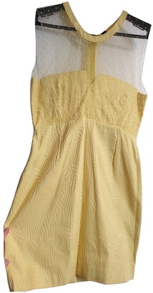 The Kooples Spring Summer 2020 Yellow Cotton Dresses