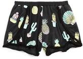 Flowers by Zoe Girls' Cactus & Pineapple Print Shorts - Big Kid