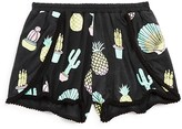 Flowers by Zoe Girls' Cactus & Pineapple Print Shorts - Sizes S-XL