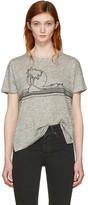 Rag & Bone Grey Palm Embroidery T-shirt