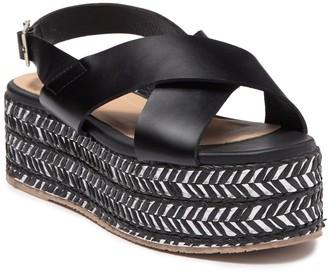 Kaanas Ada Crisscross Wedge Sandal