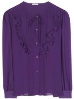 Miu Miu Ruffled silk blouse