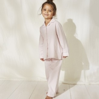 The White Company Pink Gingham Flannel Pyjamas (1-12yrs), Pink, 7-8yrs