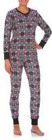 Buffalo David Bitton Boxed Two-Piece Cozy Long Jane Mixed-Graphic Pyjama Set