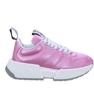 MM6 MAISON MARGIELA Leather Sneakers Fucsia Color