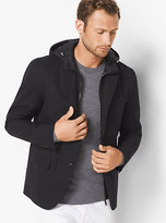 Michael Kors Cotton-Blend Hooded Blazer