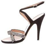 Blumarine Embellished Suede Sandals