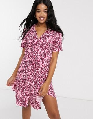 JDY Star short sleeve ditsy floral shirt dress