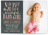 Minted Girl Stats Birth Announcements