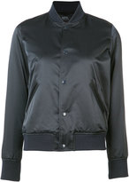 A.P.C. button up bomber jacket - women - Cotton/Polyimide - 40