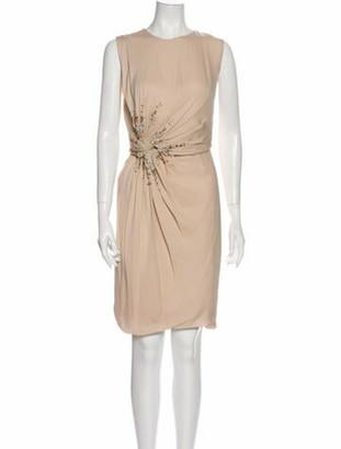 J. Mendel Silk Knee-Length Dress