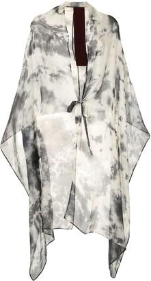 Masnada Asymmetric Abstract Print Cardigan