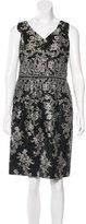 David Meister Embellished Lace Dress