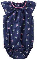 Osh Kosh Baby Girl Floral Poplin Bodysuit