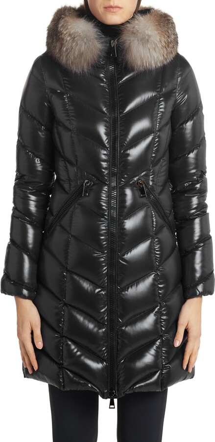 1b400a3c5 Fulmarus Quilted Down Puffer Coat with Removable Genuine Fox Fur Trim