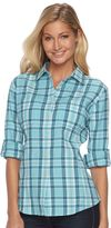 Woolrich Women's Tall Pine Plaid Seersucker Shirt