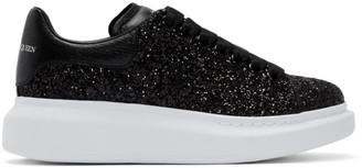 Alexander McQueen Black Glitter Oversized Sneakers